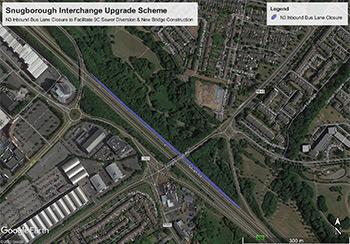 Bus Lane Closure at Snugborough Interchange