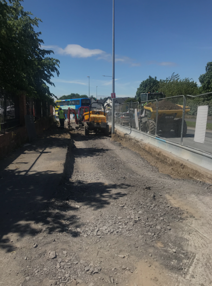 Waterville Road Temporary Widening