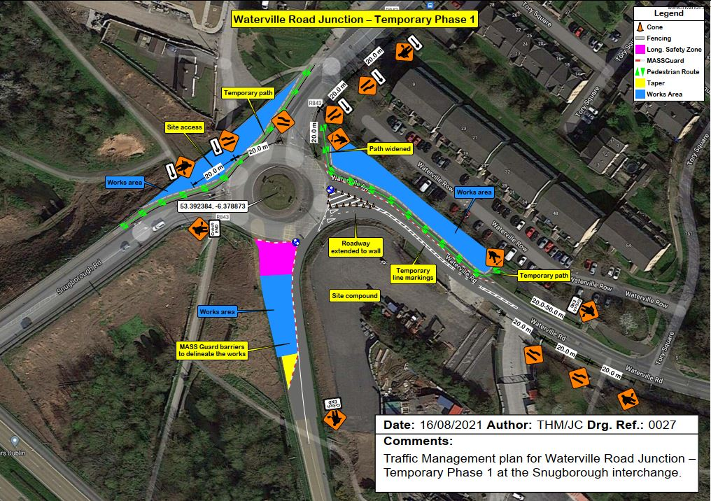 Waterville Road Junction - Temporary Layout Phase 1